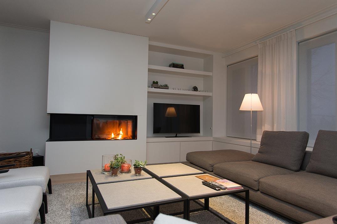 Wandkast living rooms woonkamer for Herinrichten woonkamer